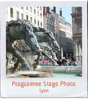 programme stage photo Lyon vacances scolaires